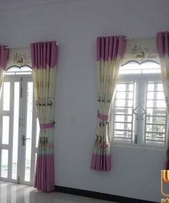 màn rèm màu kem hồng đẹp