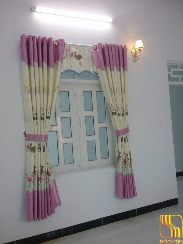 rèm cửa màu kem hồng Đà Nẵng