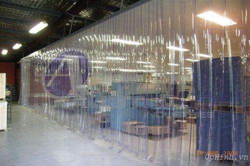 Rèm PVC ngăn lạnh ngăn bụi, trắng trong