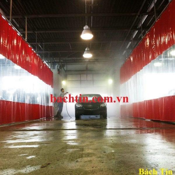 Rèm ngăn nước nhà rửa xe