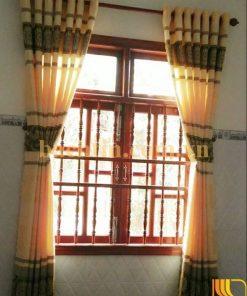 Rèm vải cửa sổ giá rẻ màu vàng kem