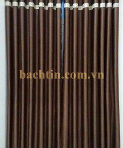 Rèm vải cửa sổ màu nâu chống nắng