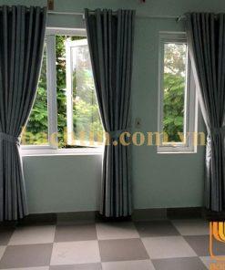 Rèm vải cửa sổ màu xám chống nắng