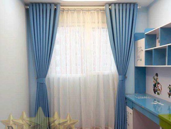 Rèm vải màu xanh Đà Nẵng