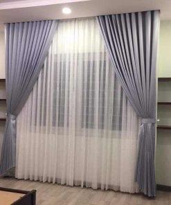 rèm 2 lớp màu tím