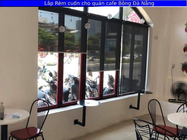 Lắp Rèm cuốn cho quán cafe Bông Đà Nẵng